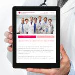Frauenarzt responsive Webseite