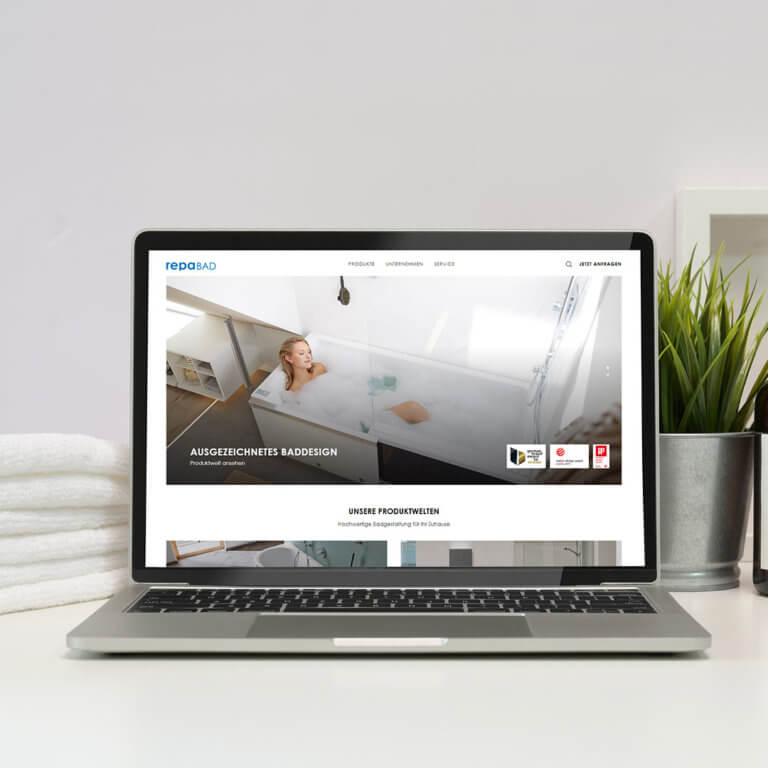 webseite sanitaerausstattung webdesign modern