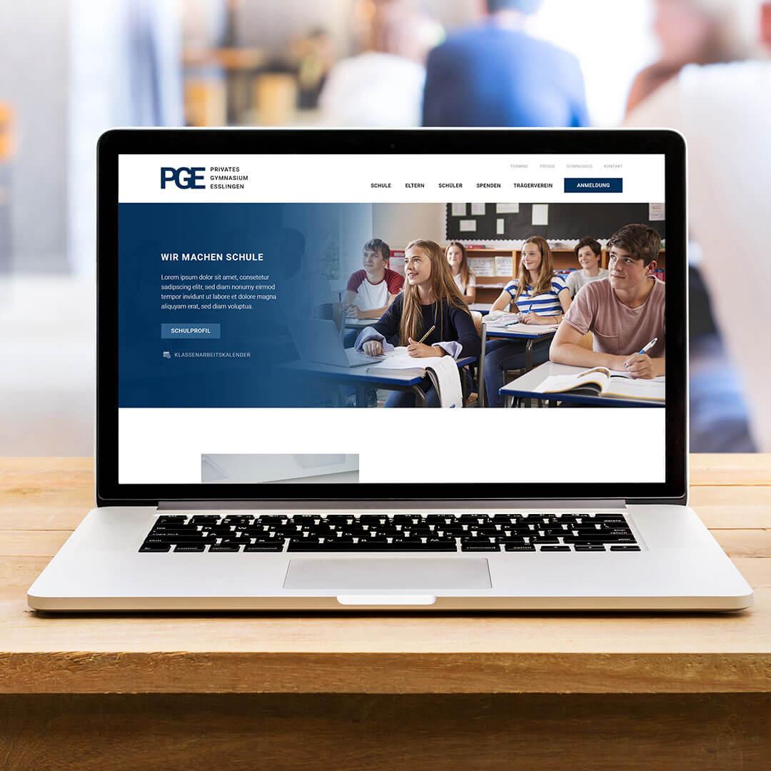 Schulwebsite Webdesign Schule