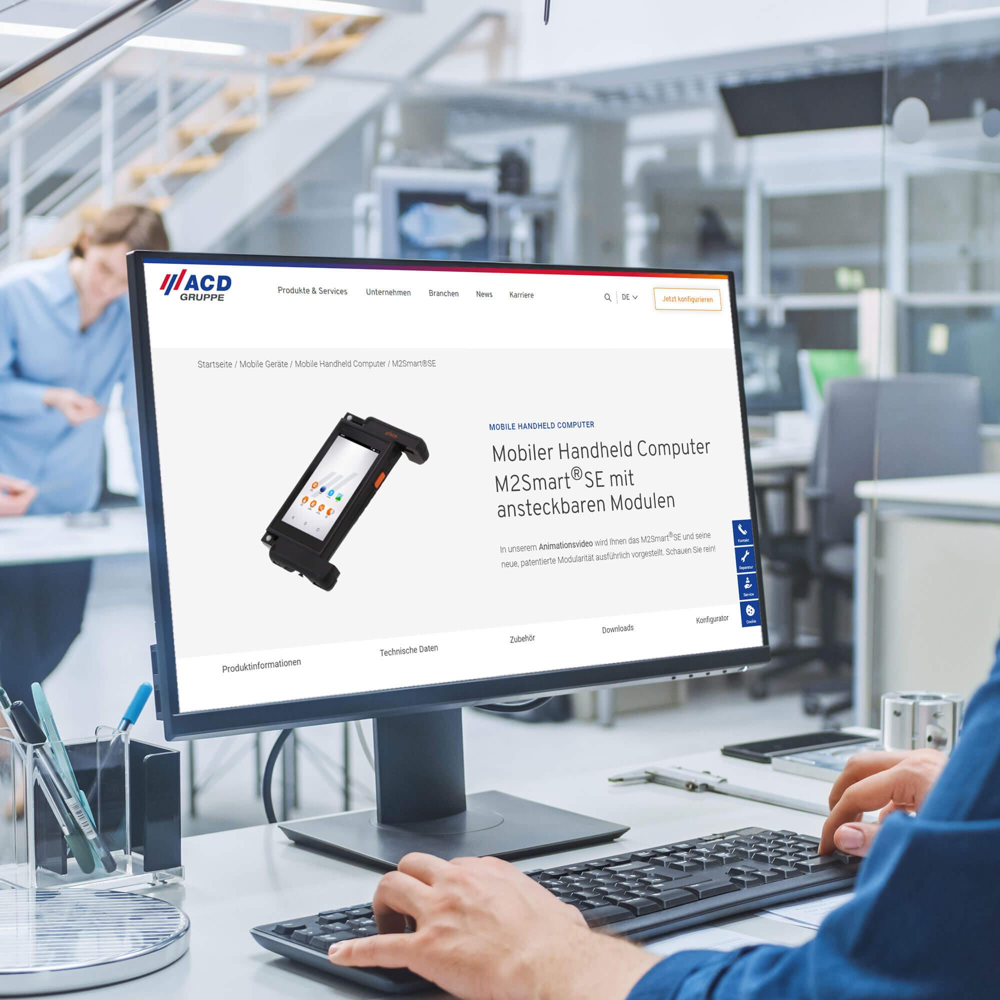 Website für einen Elektrotechnik-Hersteller interaktiv erstellt