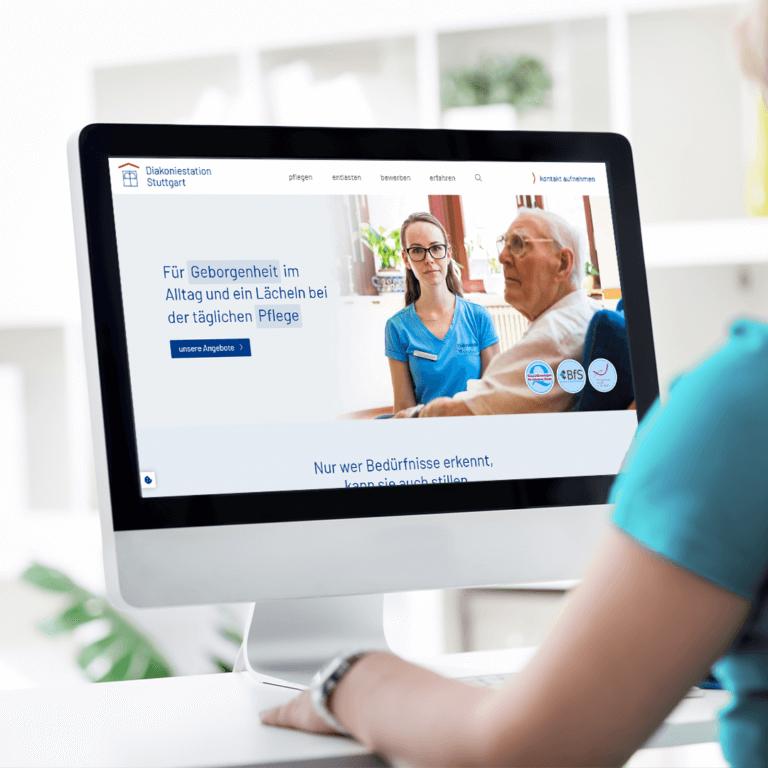 Website-Neugestaltung Diakonie