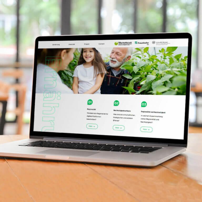 Nachhaltiges Webdesign online designen